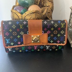 Louis Vuitton Sarah Noeud wallet multicolor noir